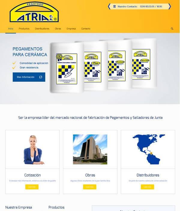Pegatodo Atria - Manejador de contenidos Diseño Web Valencia Carabobo