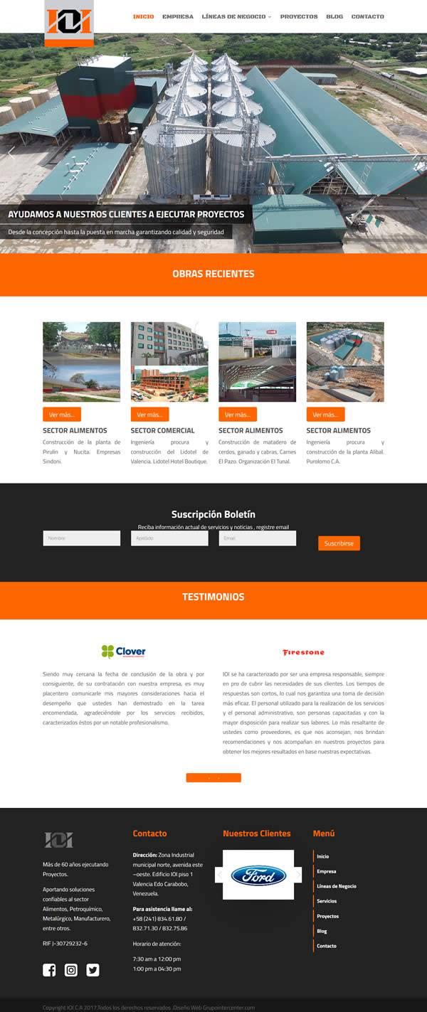 IOI - Diseño web wordpress portafolio