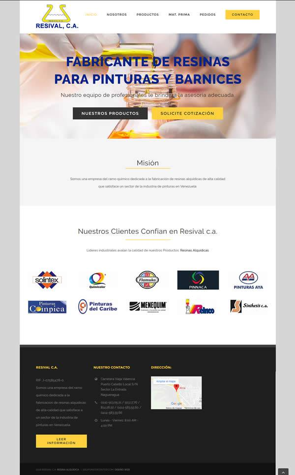 Resival, C.A. - Diseño web wordpress
