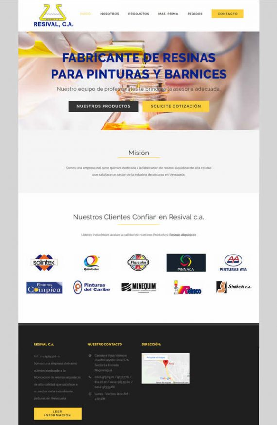 resivalca diseño web wordpress